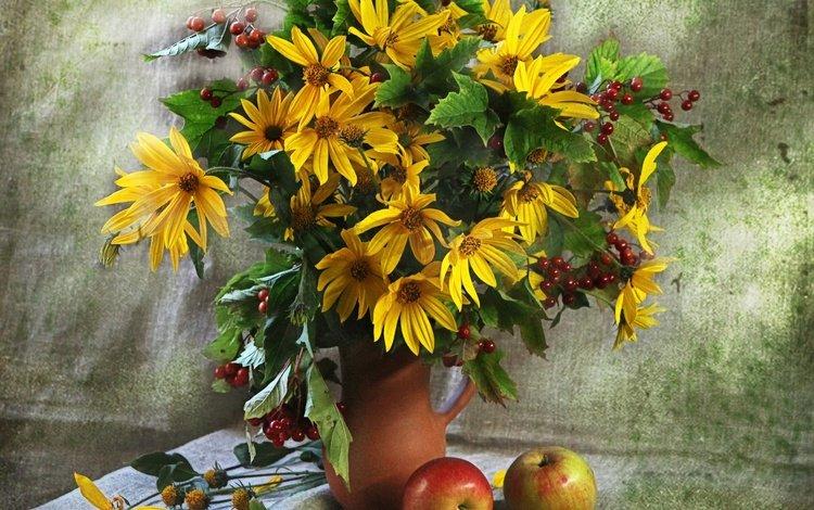 flowers, bouquet, still life, rudbeckia
