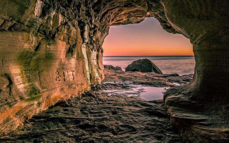 rocks, photo, sea, cave
