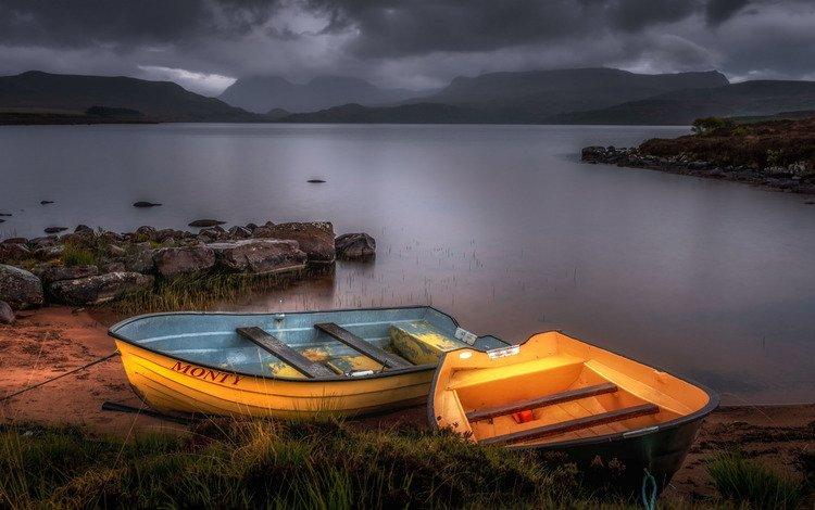 река, природа, лодки, river, nature, boats