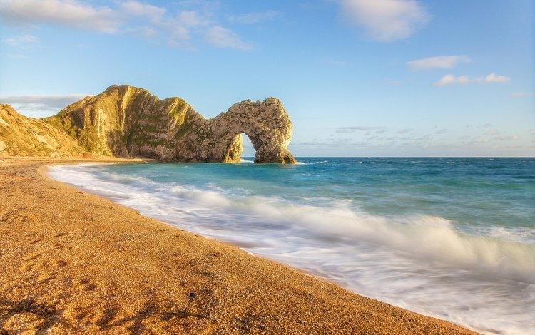 природа, побережье, волны, красота, пейзаж, море, песок, пляж, панорама, день, nature, coast, wave, beauty, landscape, sea, sand, beach, panorama, day