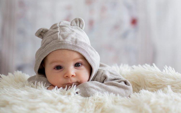 boy, blanket, baby, bed