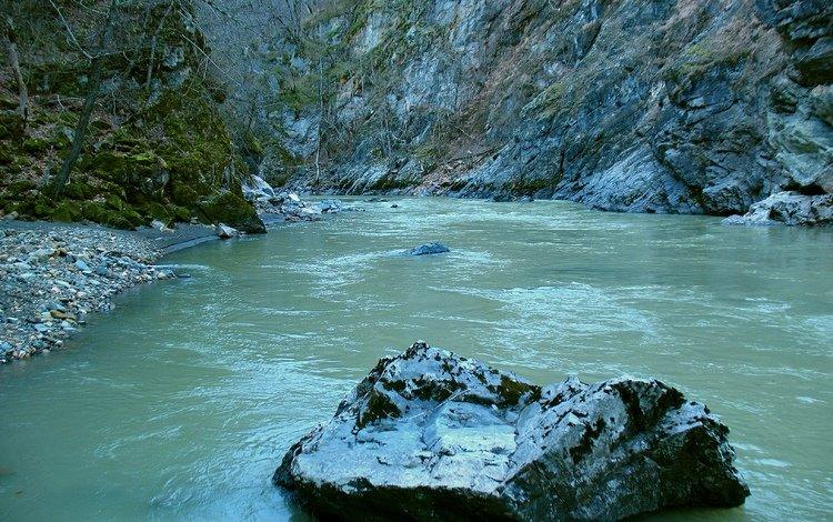 river, nature, adygea