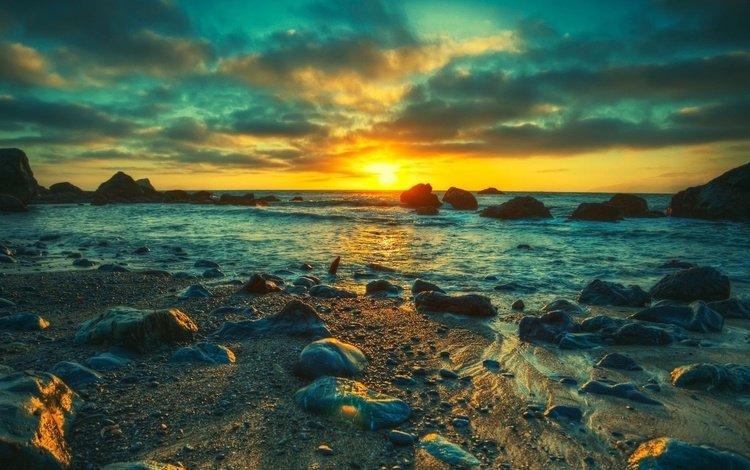 закат, море, sunset, sea