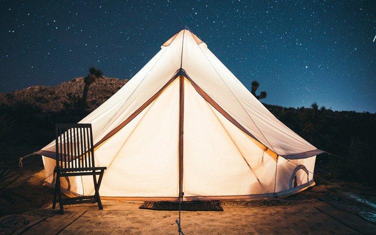 небо, свет, звезды, стул, палатка, вход, kal loftus, the sky, light, stars, chair, tent, entrance