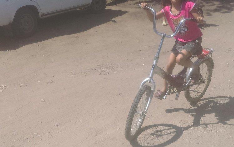 девочка, автомобиль, велосипед, торс, girl, car, bike, torso