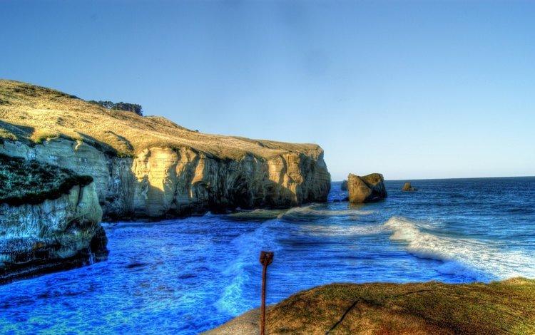 скалы, берег, пейзаж, море, rocks, shore, landscape, sea