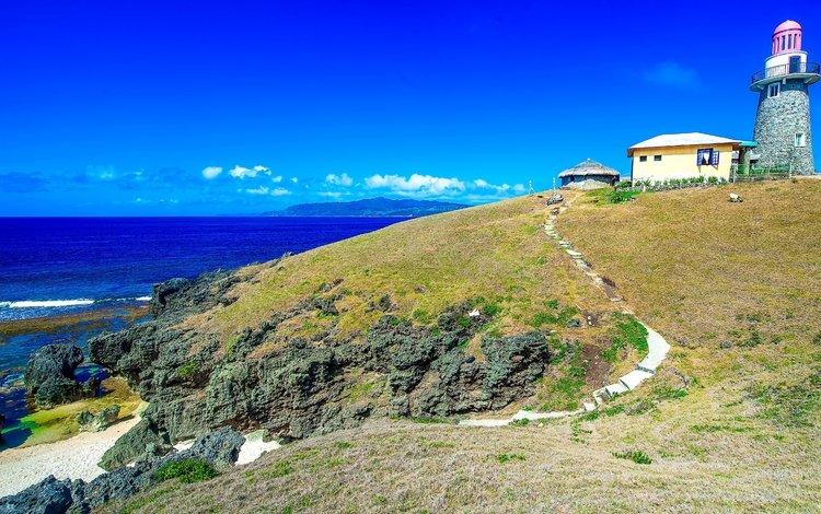 природа, пейзаж, пляж, маяк, филиппины, баско батанес, nature, landscape, beach, lighthouse, philippines