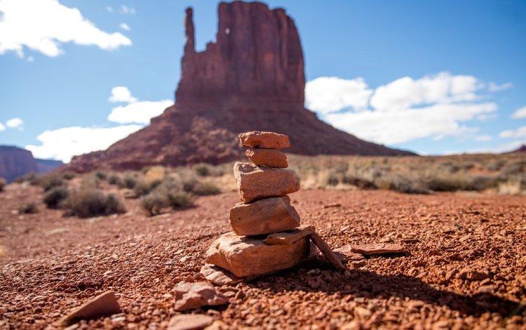 harmony, stones, desert, canyon, close-up, grand canyon, balance, arizona