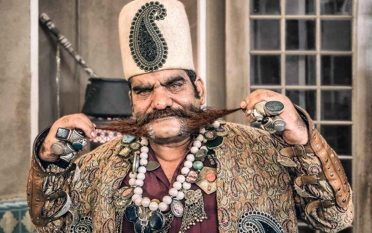 портрет, усы, лицо, мужчина, иран, султан, portrait, mustache, face, male, iran