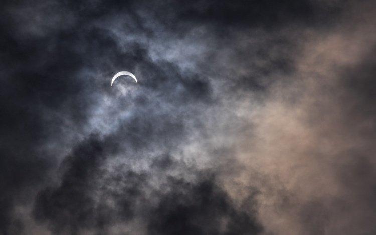 небо, облака, природа, тучи, луна, месяц, пасмурно, the sky, clouds, nature, the moon, a month, overcast