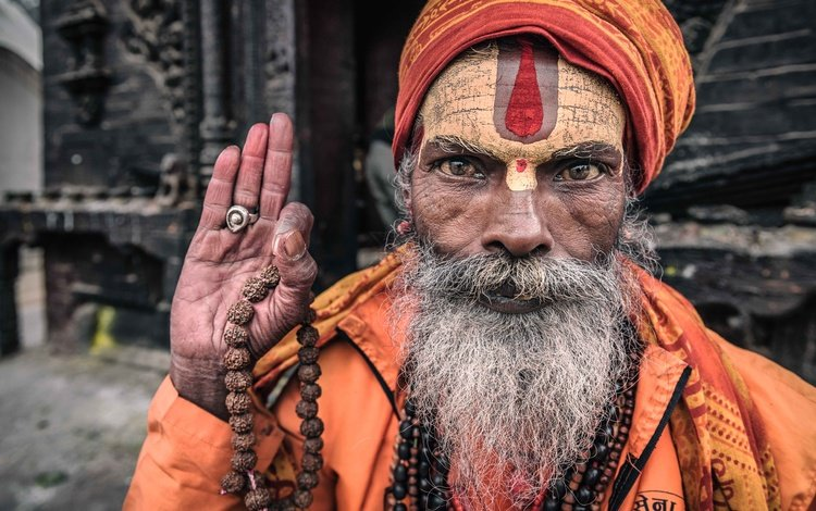рука, портрет, лицо, мужчина, старик, борода, непал, hand, portrait, face, male, the old man, beard, nepal