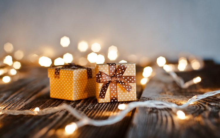 новый год, подарки, стол, праздник, рождество, огоньки, new year, gifts, table, holiday, christmas, lights