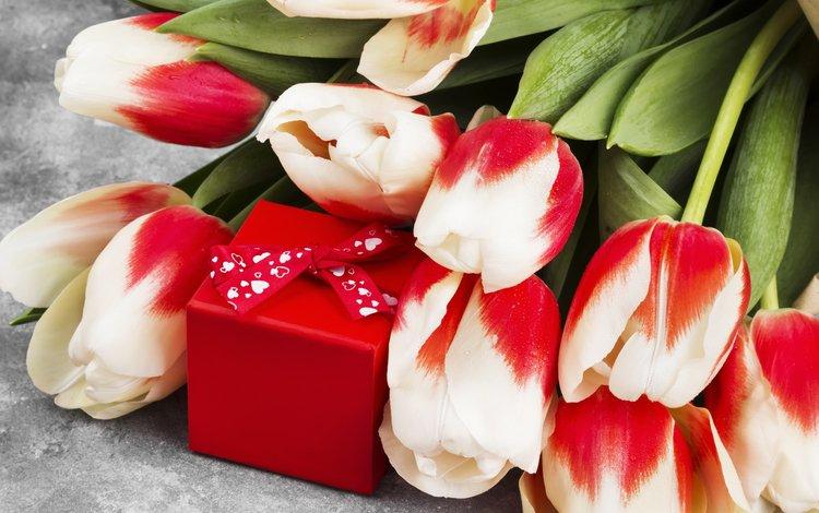 цветы, букет, тюльпаны, подарок, 8 марта, flowers, bouquet, tulips, gift, march 8