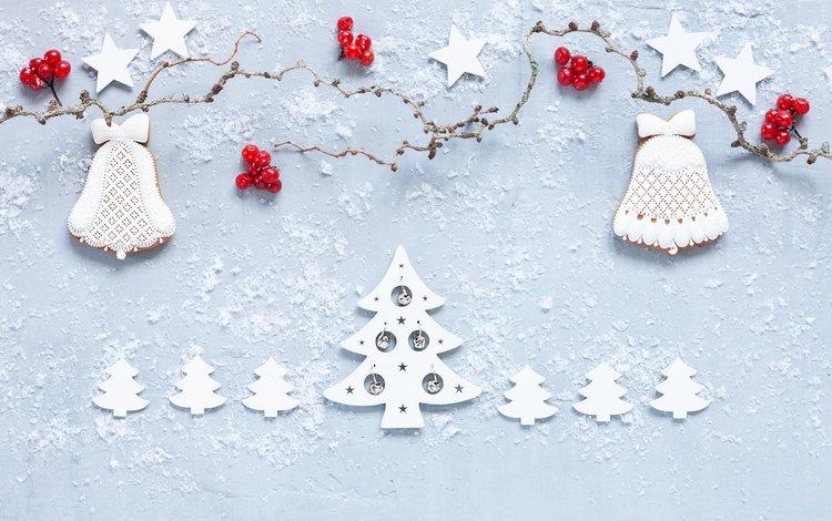 новый год, пряники, звезды, новогоднее печенье, ягоды, елочки, рождество, украшение, новогодние украшения, декор, new year, gingerbread, stars, berries, christmas trees, christmas, decoration, christmas decorations, decor