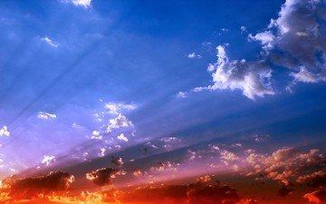 небо, свет, облака, цвет