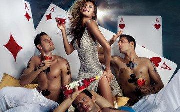казино, покер, карты, ева мендес, кампари