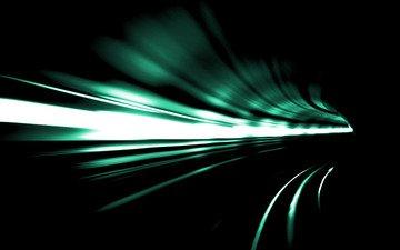 свет, абстракция, обои, скорость, поворот, тоннель