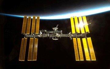 земля, космос, вокзал, космическая, мкс, international