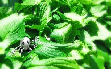 трава, зелень, игрушка, валлпапер