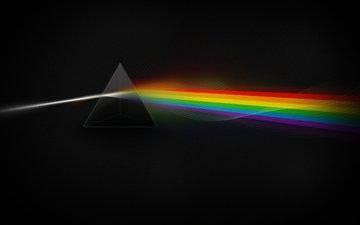 свет, цвета, звезды, dark side, призма