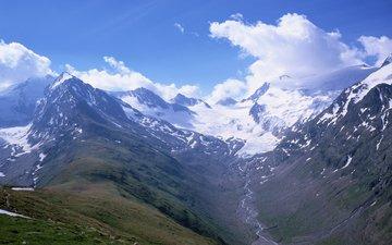 небо, река, горы