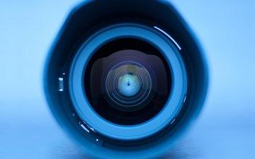 голубой, круги, глаз, линза