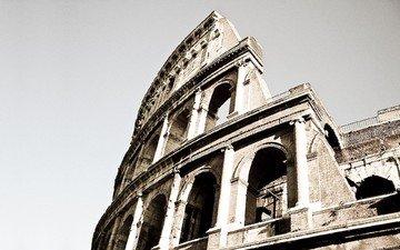 колизей, рим, фрагмент