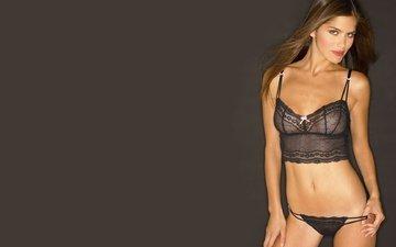 model, underwear, thong