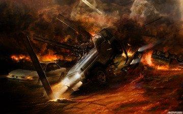 огонь, ситуации, взрывы, пожар