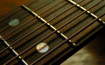 гитара, гриф, струны, лад