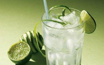 свежесть, лёд, лайм, коктейль, цитрус, напитки