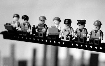 обои, макро, фото, фон, чёрно-белое, фигурки, лего, игрушки, картинка