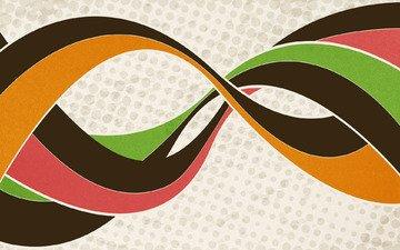 абстракция, линии, цвета, креатив, переплетение