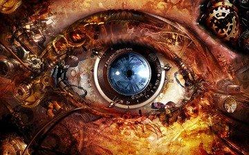 глаз, линза, механизм