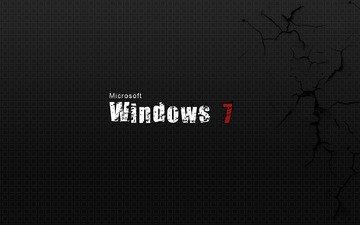 текстуры, фон, трещины, windows 7, майкрософт