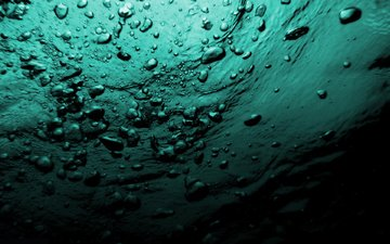 вода, море, пузыри, под водой