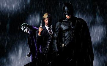черный, джокер, бетмен, бэтмен, рыцарь