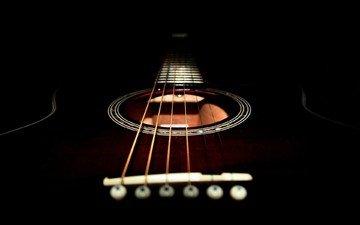 гитара, черный, струны
