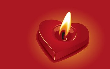 heart, fire, candle