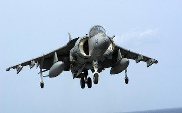 the carrier, landing, harrier