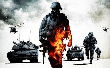 оружие, война, солдаты, поле боя, техника, армия, bad company