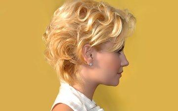 girl, blonde
