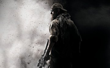 game wallpaper, black & white, медаль за отвагу