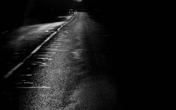 дорога, черно-белая, полоса