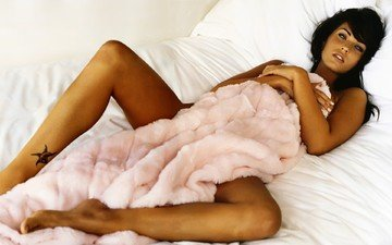 кровать, одеяло, загар, лис, голая, меган, фокс