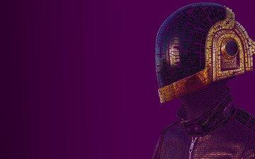 музыка, шлем, daft punk, guy-manuel de homem-christo, типография, слова