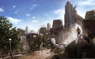 город, руины, i am alive, мужик, разрушения, апокалипсис