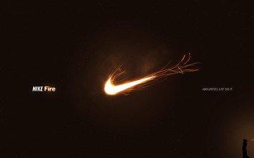 огонь, логотип, найк