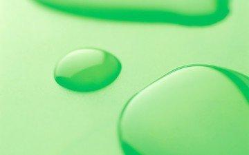 зелёный, капли
