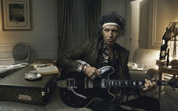 гитара, rolling stones, keith richards, annie leibovitz, наскальные